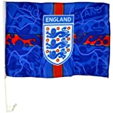 England Blue Lightning Car Flag - Multi-Colour