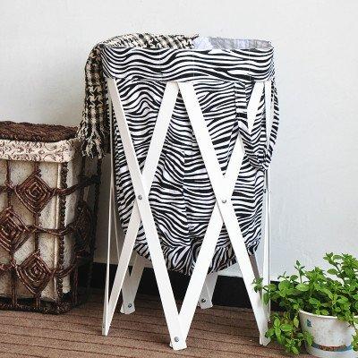 Sino Banyan Vintage Fabric Laundry Basket,Foldable,Storage Container,Zebra