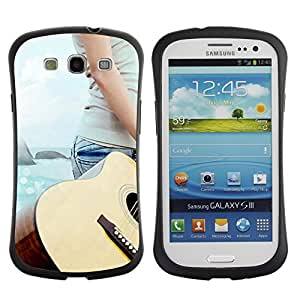 Fuerte Suave TPU GEL Caso Carcasa de Protección Funda para Samsung Galaxy S3 I9300 / Business Style Music Guitar Beach