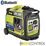 Ryobi Bluetooth 2,300-Watt Super Quiet Gasoline Powered Digital Inverter Generator RYI2300BTA