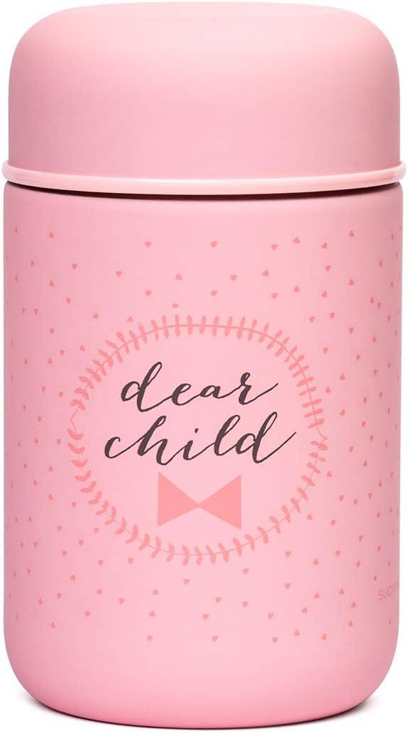 Suavinex - Termo Papillero Para Bebé. Acero Inoxidable. Cierre Hermético, 350ml Color Rosa