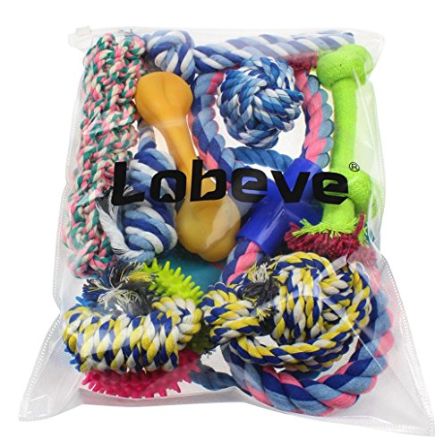 Lobeve-Dog-Toys-10-Pack-Gift-Set-Variety-Pet-Dogs-Toy-Set-for-Medium-to-Small-Doggie