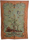 Hallmart Collectibles 60 by 44-Inch French Tapestry of an Oriental Garden