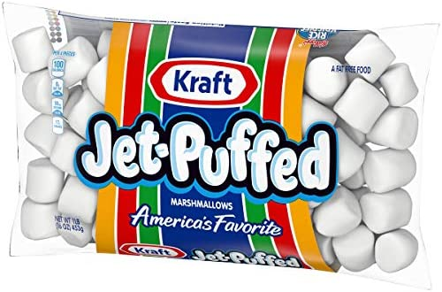 Jet Puffed Marshmallows (16 oz Bag, Pack of 12)