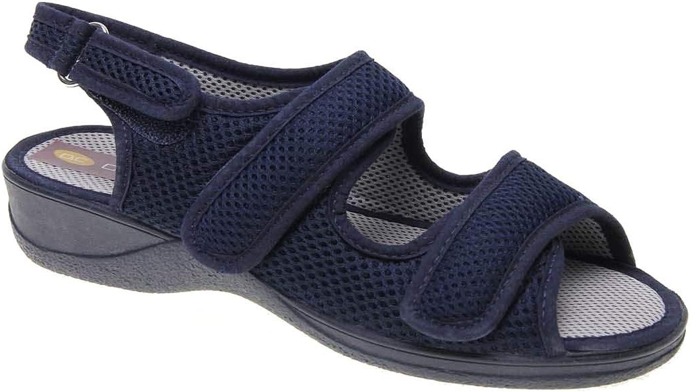Zapatilla Mujer, Marca DOCTOR CUTILLAS, Color Azul Marino, Cierre Dos velcros - 21739-115