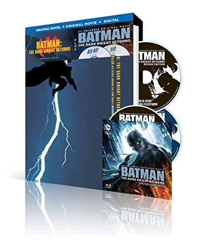 - Batman: The Dark Knight Returns w/ Batman: The Dark Knight Returns Graphic Novel (Blu-ray/DVD/UV)