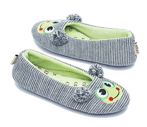 Ofoot Gray Frog pour femme Chaussons rtw1qazr