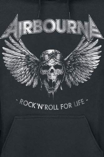 Life Felpa nera Roll con Rock Airbourne cappuccio For 'n AwPqA0z