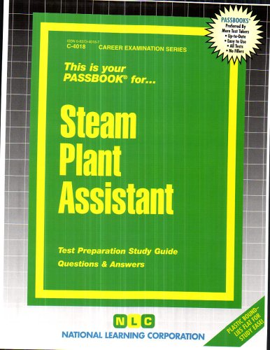 Steam Plant Assistant(Passbooks) (Career Examination (Steam Test)