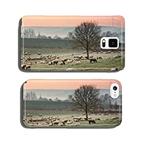 Flock of sheep on the grazing land cell phone cover case Samsung S5