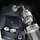 Luxury Filtered Shower Head Set (Metal) Cartridge Vitamin C + Multi-Stage Shower Water Filter - Universal Shower System - Helps Dry Skin & Hair Loss - Removes Chlorine & Sediments