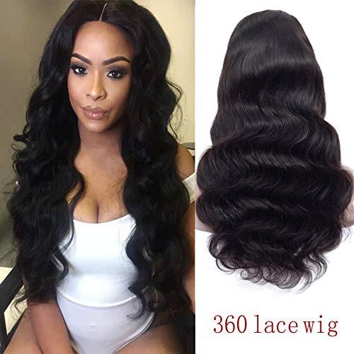 d44f9a641 Human Hair 360 Lace Frontal Wigs Pre Plucked Brazilian Virgin With.  Shangzhixiu Le Meilleur Prix Dans Savemoney Es