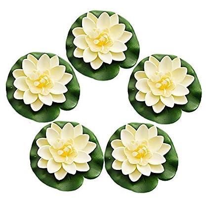 Buy Dwayne C 5 Pcs Artificial Lotus Flowers For Home Garden Wedding