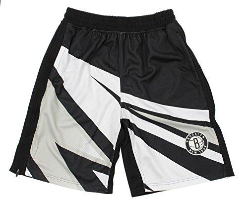 Zipway NBA Men's Motorcross Athletic Shorts, Team Options (Brooklyn Nets, Large) (Brooklyn Basketball Shorts Men)