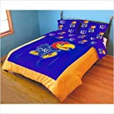 College Covers Kansas Jayhawks Printed Dust Ruffle, King
