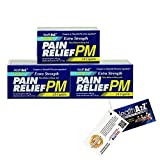 Health A2Z Extra Strength Pain Relief PM, 3-in-1,Comparte to Tylenol® PM Active Ingredient,Convenience Pack