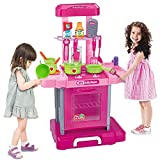 BFOEL Simulation Kitchen Appliance Oven Cooking Playset Custome DIY Toy / Lights And Sound For Little Chief,Kids and Toddlers