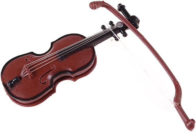 1:12 Dollhouse Miniature Violin Musical Instruments Collection DIY Decor Gift s`