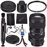 Sigma 50-100mm f/1.8 DC HSM Art Lens for Nikon F #693955 + Lens Pen Cleaner + Microfiber Cleaning Cloth + Lens Capkeeper + Flexible Tripod Bundle (International Model No Warranty)
