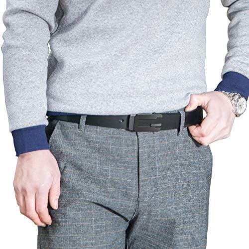 LUCIANOファッションソフト本革スムースバックルベルトカジュアルカウハイドベルト男性用