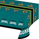 Creative Converting Officially Licensed NFL Plastic Table Cover, 54x102, Jacksonville Jaguars