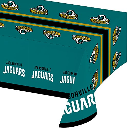 [Creative Converting All Over Print Jacksonville Jaguars Plastic Banquet Table Cover] (Jacksonville Jaguars Cover)