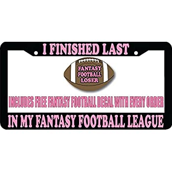 FANTASY FOOTBALL LOSER trophy CUSTOM NAME TEXT PERSONALIZED License Plate Frame
