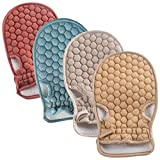 Bath Gloves Mitt for Exfoliating and Body Scrubber Loofah Skin Massage Shower Sponge Towel (4 colors)