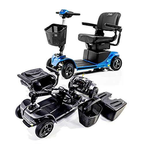Revo 2.0 4-Wheel Pride Mobility Electric Scooter S67 + Challenger Folding Rear Basket