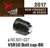 Action Army B01-027 VSR10 Bolt End Cap (Black) for Tokyo Marui VSR10 /Well MB02/Well MB03 (Taiwan)