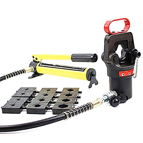 MXBAOHENG Hydraulic Crimping Tools Compression Heads with Hand Pump 16-500mm2 18 Ton Hose Crimper (Crimping Hose Machines)
