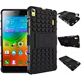 Xertz ® Defender Rugged Back Case Cover for LENOVO A 7000 A7000 / LENOVO K3 NOTE Back cover - Black