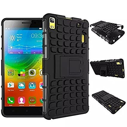 timeless design 0daf5 aeaf9 Xertz ® Defender Rugged Back Case Cover for Lenovo A 7000 A7000 / Lenovo K3  Note Back Cover - Black