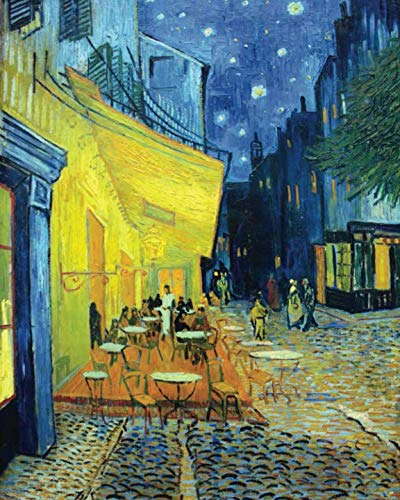 - Vincent Van Gogh Cafe Terrace at Night - Dot Grid Journal: Beautiful and inspiring Van Gogh Art Bullet Grid Notebook for home, work or school. Perfect ... drawing, or freestyle journal creation.