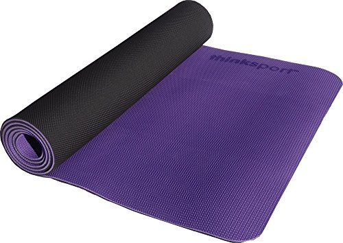 Thinksport Safe Yoga Mat, Black/Purple For Sale