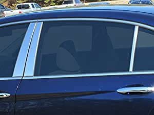 Works with 2013-2017 Honda Accord 4 Door 4PC Stainless Steel Chrome Pillar Post Trim Made in USA