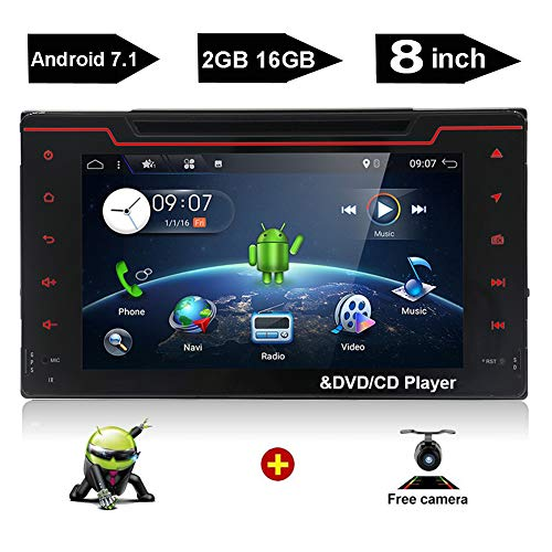 YUNTX 2 din Android 7.1 in Dash Navigation car DVD Player fi