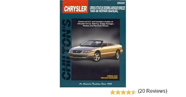 Chrysler cirrus stratus sebring avenger and breeze 1995 98 chrysler cirrus stratus sebring avenger and breeze 1995 98 chilton total car care series manuals chilton 9780801990908 amazon books fandeluxe Gallery