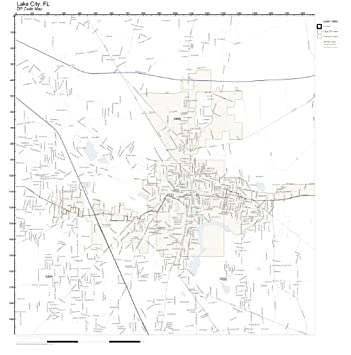 Map Of Lake City Florida.Amazon Com Zip Code Wall Map Of Lake City Fl Zip Code Map