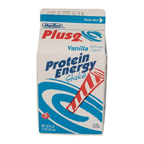 Plus 2 Protein Energy Shake, Vanilla 16 oz, (pack of 12) by Plus 2