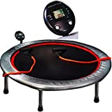 Workout Trampoline for Adults with Resistance Cords and Monitor Steel Mini Round Fitness Exercise Sport Gymnastics Personal Bounce Indoor Small Rebounder Trampoline eBook by Easy&FunDeals