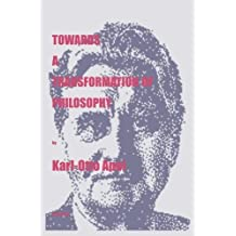 Towards a Transformation of Philosophy (Marquette Studies in Philosophy) by Karl-Otto Apel (1998-08-03)