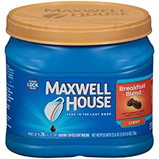 Maxwell House Dark Roast Ground Coffee (24.5 oz Canister)
