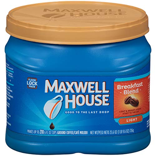 Maxwell House Breakfast Roast Ground Coffee (25.6 oz Canister)