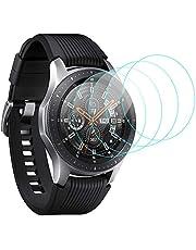 CAVN 4 sztuki szkła pancernego Kompatybilny z Samsung Galaxy Watch 46 mm, folia ochronna, 9H, odporna na zarysowania, hartowane szkło pancerne, folia ochronna na wyświetlacz do Galaxy Watch 46 mm