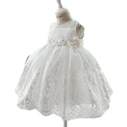 H/B color Blanco Bordado Encaje Infant Formal Vestido Niña para Comunión 1er Cumpleaños trajes