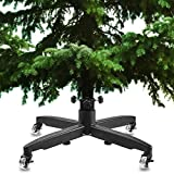 HOLDN' STORAGE Rolling Christmas Tree Stand - Universal Xmas Tree Stand with Heavy Duty Casters and Adjustable Base to fit 7 FT - 12 Foot Artificial Trees