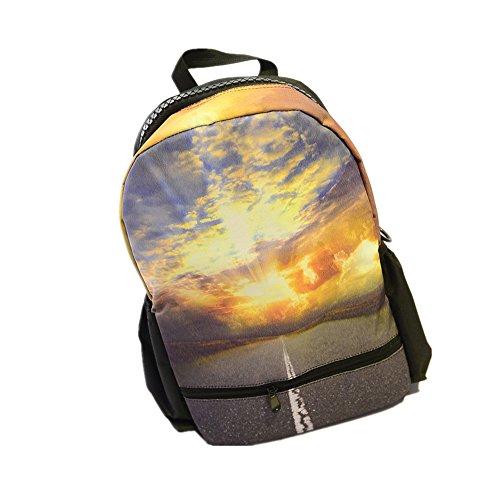Estrellas del cielo impresi?n mochila hombres y mujeres mochila bolsas secundaria estudiante 3