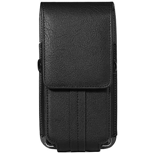 Vertical Belt Hip Case Pouch Bag Holster for Apple iPhone 8 7 Plus/LG G7 V35 ThinQ/Stylo 4/K30/Motorola Moto G6 E5 Z2 Play/X4/Blackberry KEY2/Motion Blackberry Leather Vertical Pouch