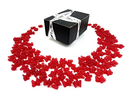 Gimbal's Strawberry Red Licorice Scottie Dogs, 2 lb Bag in a BlackTie Box